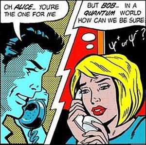 Quantum physics humor.