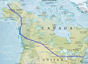 Route of the Alaskan Flying Expedition, round trip, July-October 1920.