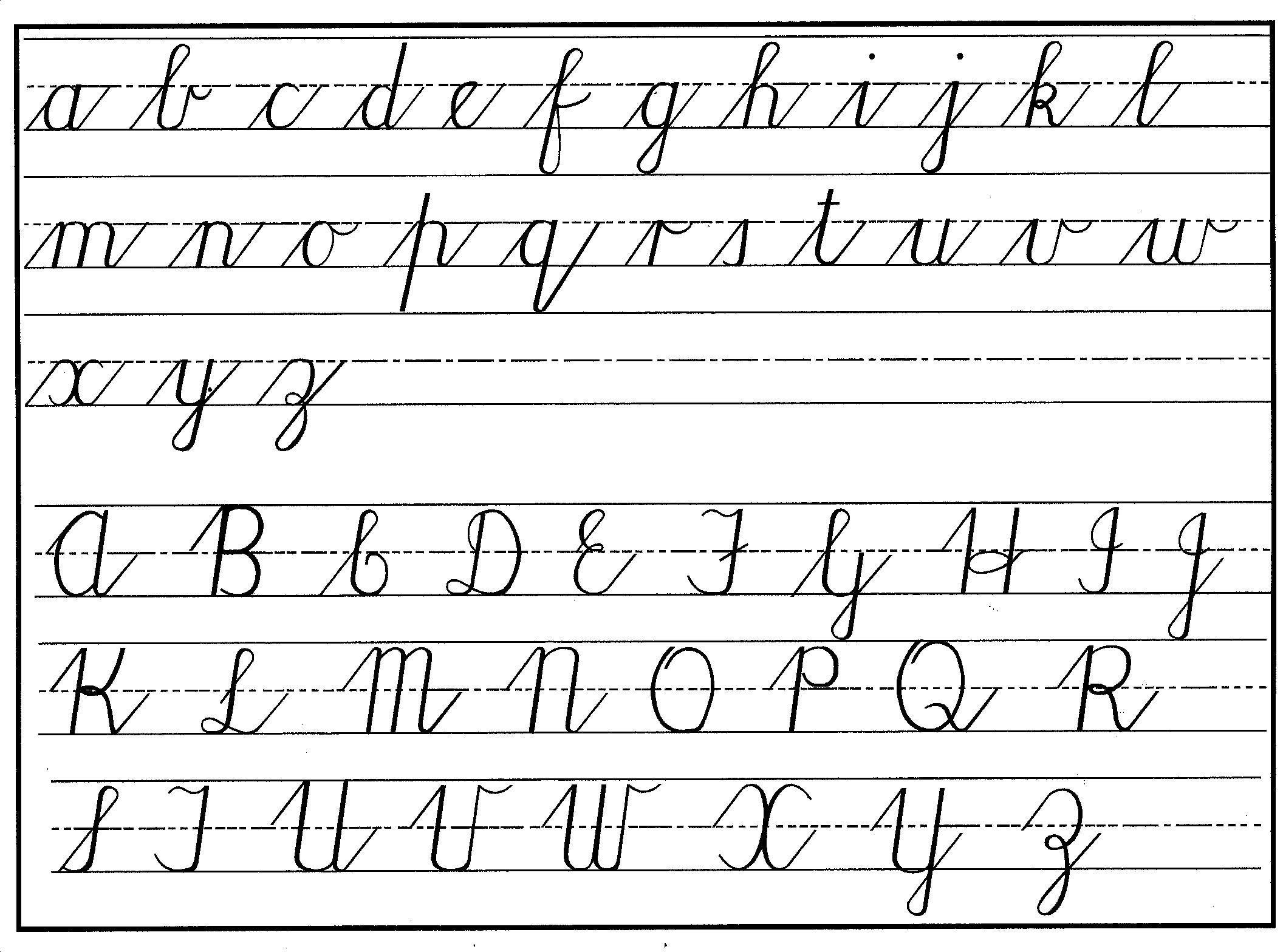 cursive letter chart is cursive dead yet simanaitis says 231