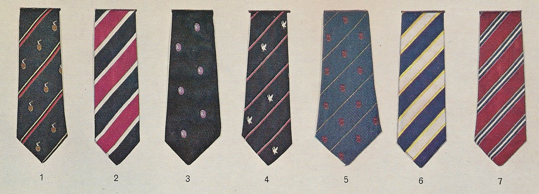 Old school ties simanaitis says a quarter page of ties from left to right 1 king henry viii school coventry 2 3 king williams college isle of man 4 kings college tauton ccuart Gallery