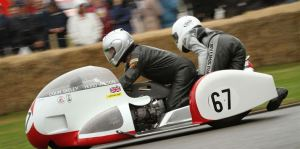 """The """"monkey"""" of a sidecar combination is a brave person indeed."""