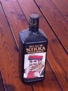 Our pachinko prize of choice: Black Nikka Whisky.