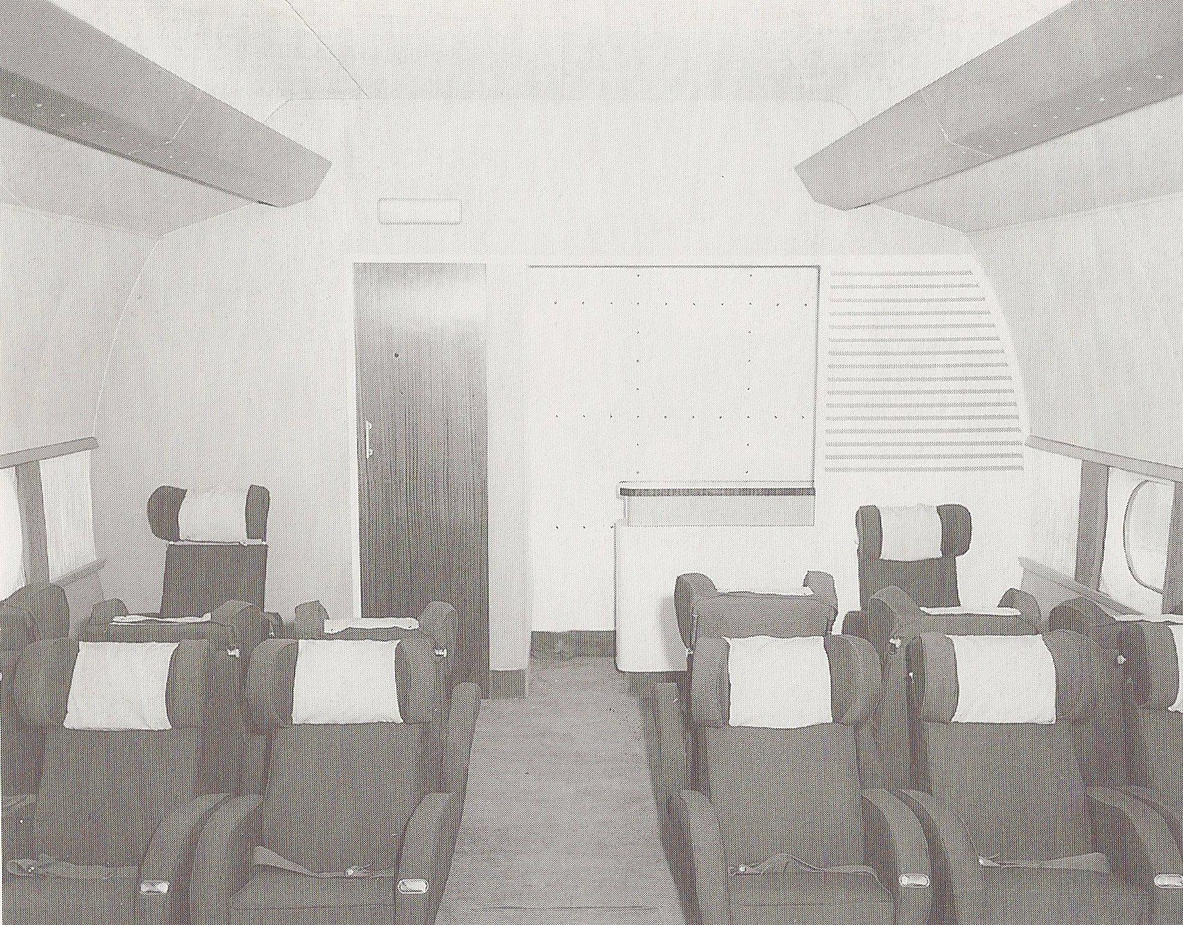 Lounge on Bristol Centaurus Sleeve Valve Engine