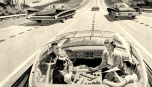 A look at the future, c. 1957, from the American Independent Electric Light and Power Companies magazine. Image from www.impactlab.net.