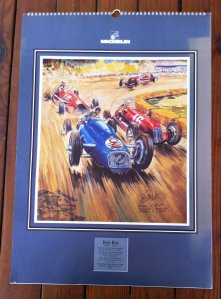 Rob Roy calendar by Michelin. Many French vintage race cars.