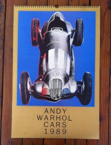 Andy Warhol Cars, 1989 calendar.