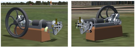An Otto Silent Engine. Model built with GMax and exported to Microsoft Flight Simulator.