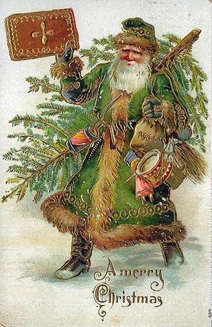 Father Christmas As Seen In England During Victorian Times