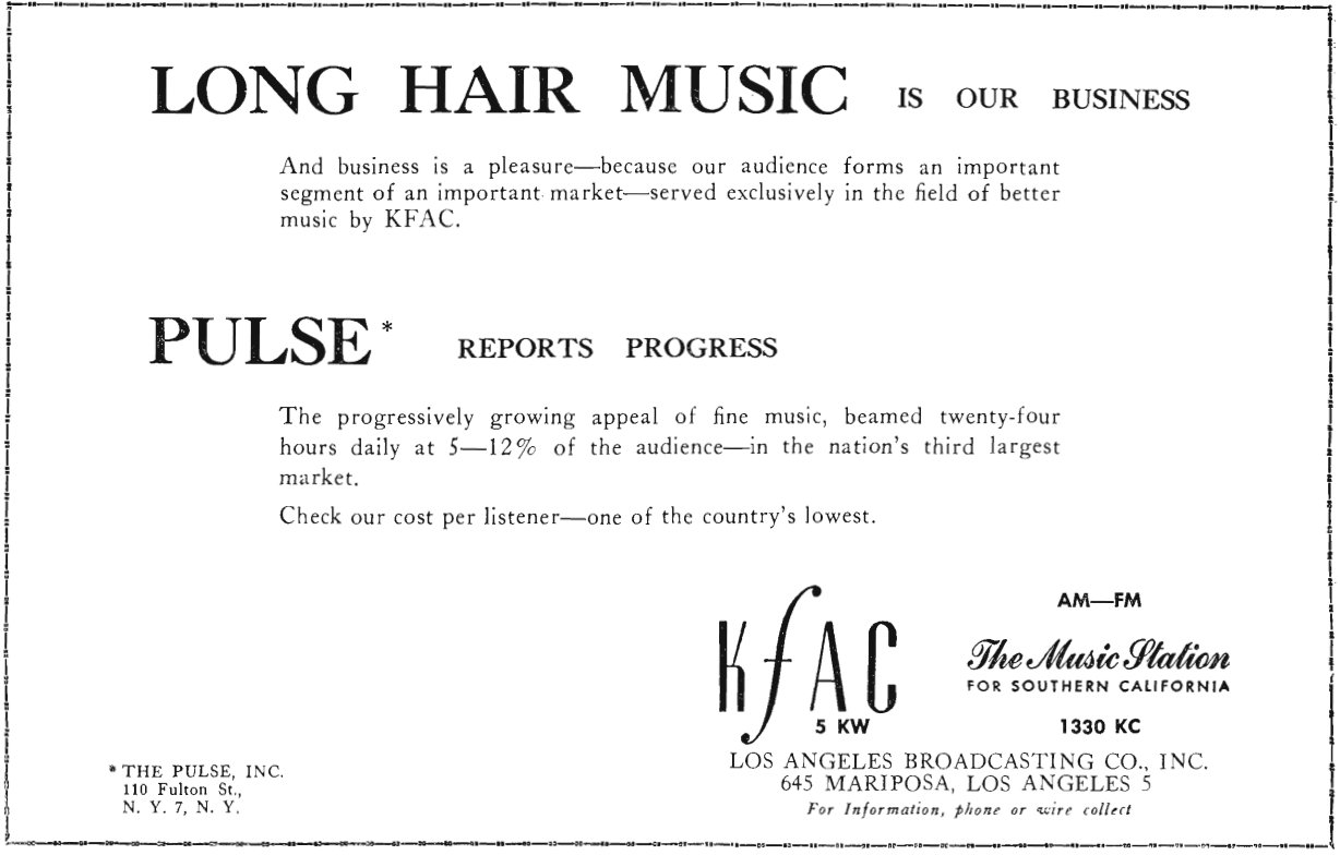 KFAC Business Card Image From Faded Signals