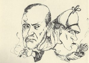 Freud and Holmes, from