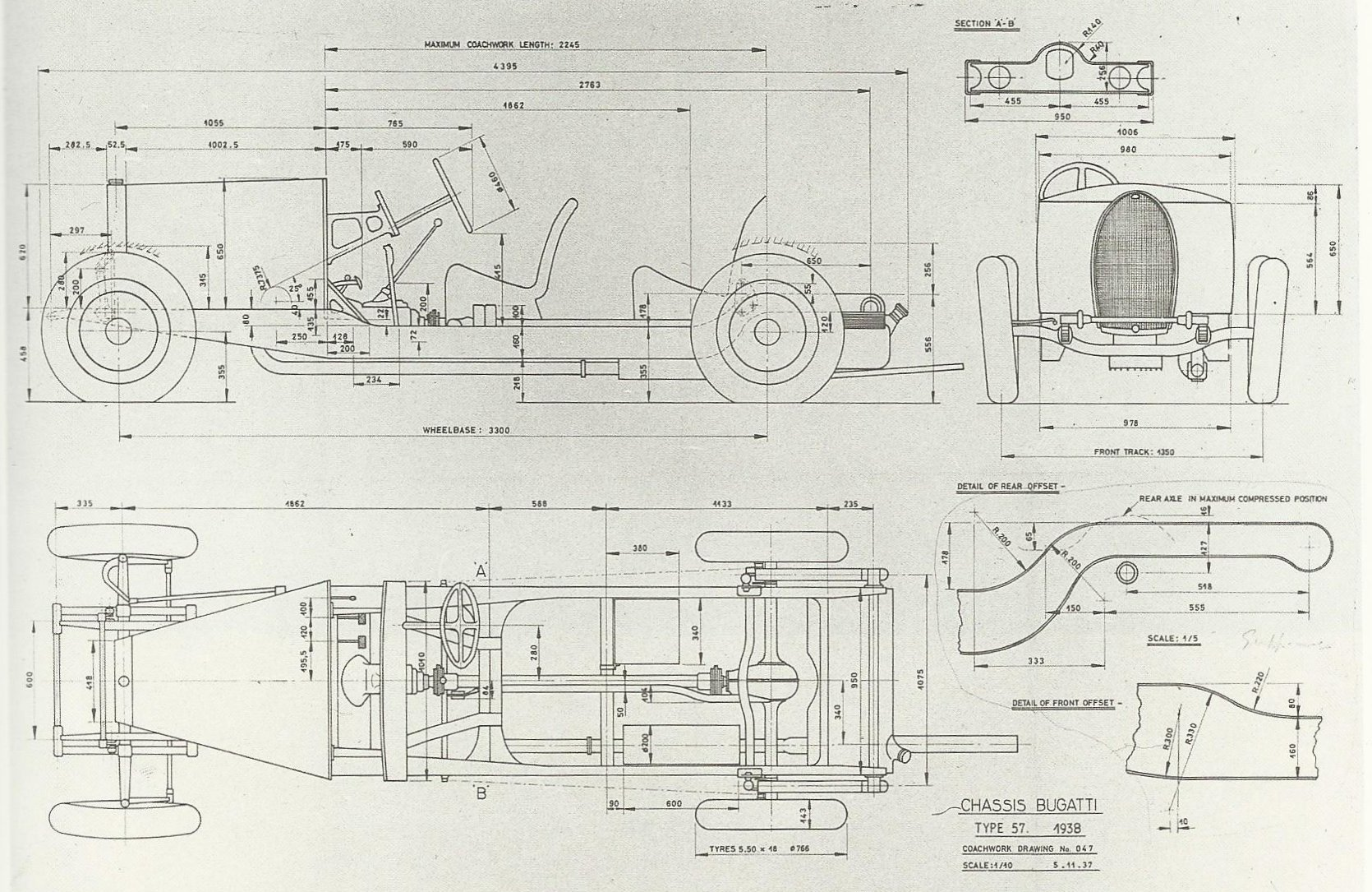 My Favorite New Bugattithats Never To Be Simanaitis Says Old Chassis Engineering Schematics Of The Type 57 Image From Bugatti Magnum