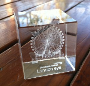 My London Eye crystal.