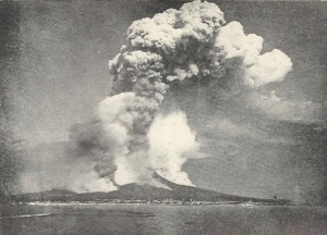 Italy's Mount Vesuvius, as it erupted in 1872, only 34 years before the book's publication.