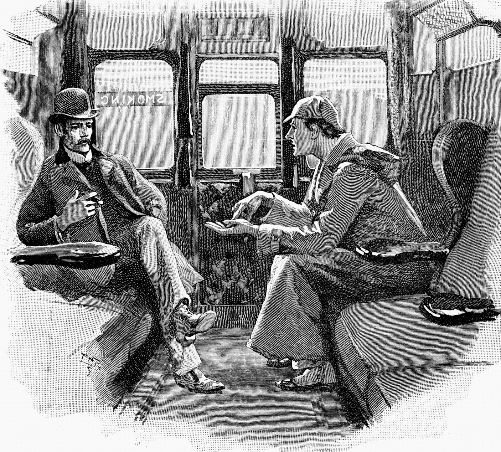 HOLMES AND A TRAIN BLUFF