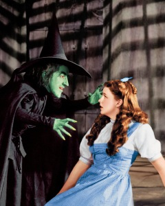 The Wicked Witch of the West with our heroine.