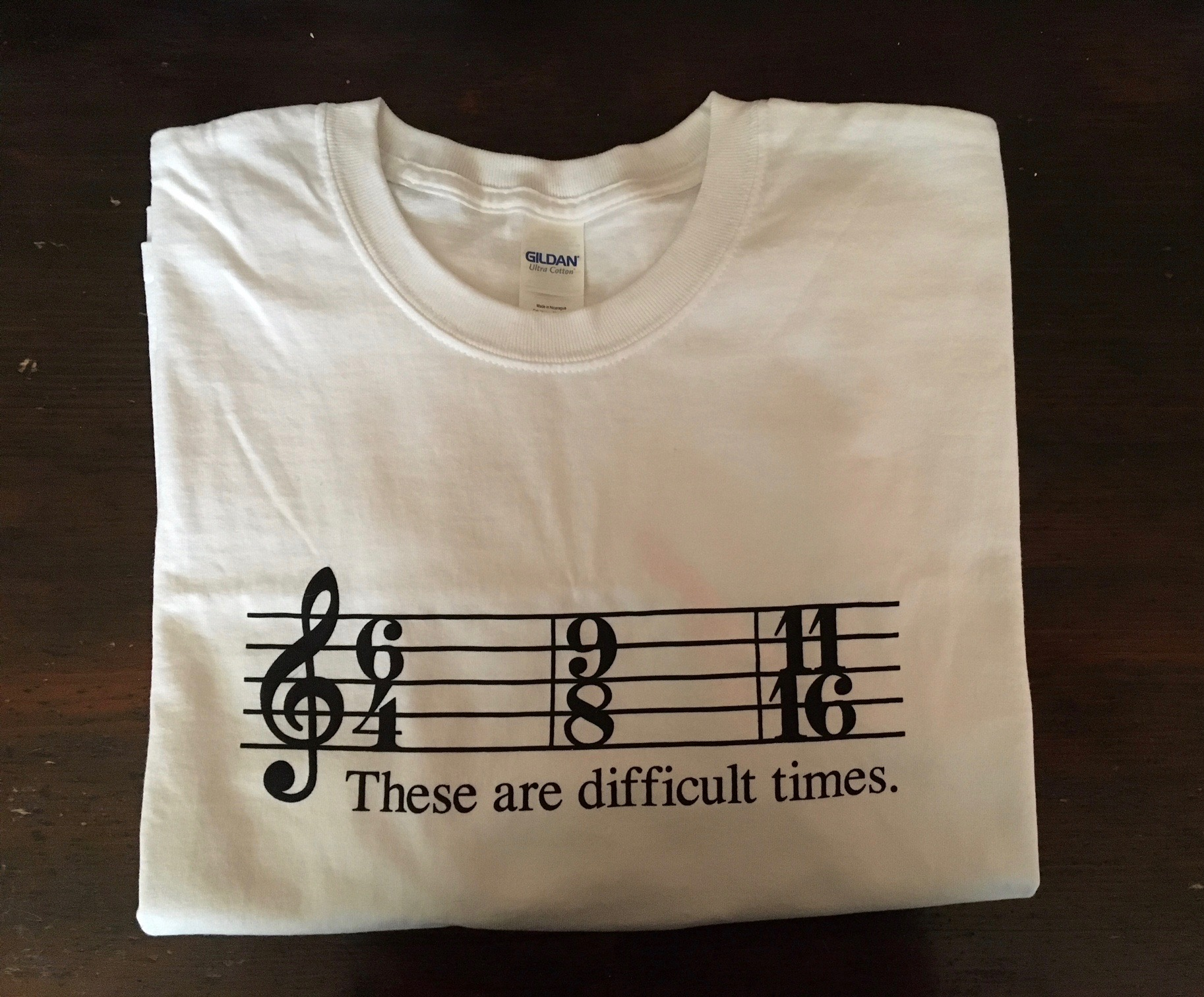07508df93a3 Unisex Adult These are Difficult Times Shirts – White T-Shirt .